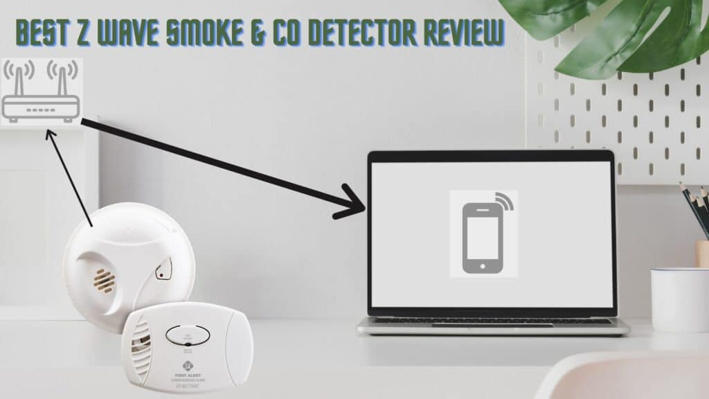 Hardwired Z Wave Smoke Detector with CO Alarm